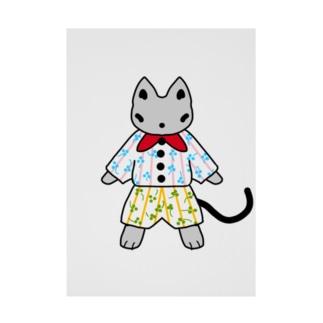 おしゃれ好きな猫 Stickable tarpaulin