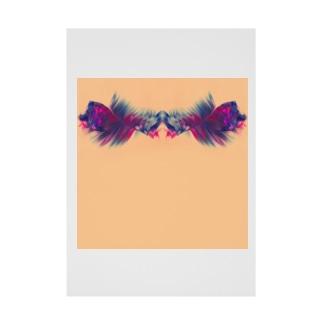 色彩の羽根 002 Stickable tarpaulin