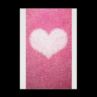 Teatime ティータイムのハート Heart ピンク pink Stickable tarpaulin