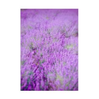 むらむらな紫色のラベンダー Stickable tarpaulin