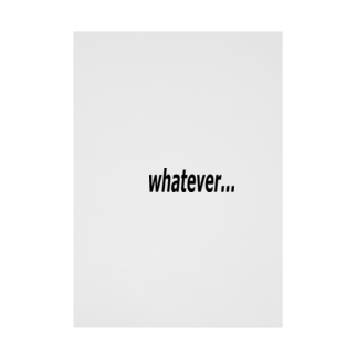 Patmaru Worksのwhatever... どうでもいい… Stickable tarpaulin