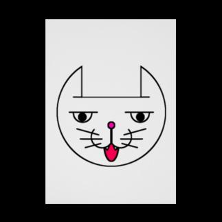 ヒロさんのグッズのネコだお(口開け)(カラー) Stickable tarpaulin