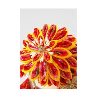 赤花咲いた Stickable tarpaulin