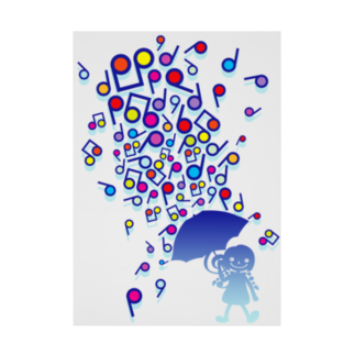 AURA_HYSTERICAのSingin' in the Rain Stickable tarpaulin