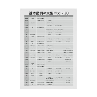 基本動詞30黒 Stickable tarpaulin