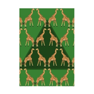 KISSING GIRAFFES Stickable tarpaulin