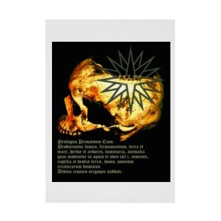 [大友窯SkullxBASARACRACY]#04「聖書」 Stickable poster