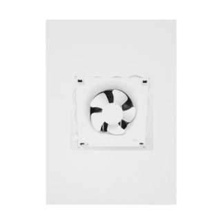Ventilation Fan Stickable tarpaulin