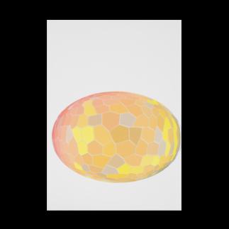 水草のオレンジ玉 Stickable tarpaulin