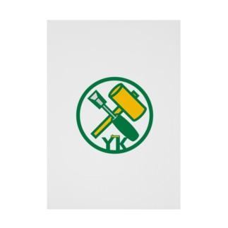 原田専門家のパ紋No.3402 YK  Stickable poster