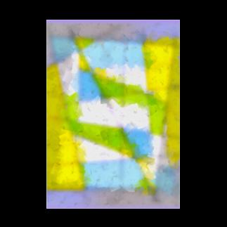 水草の窓 Stickable tarpaulin