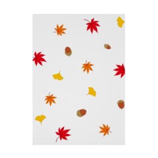 秋の柄 Stickable tarpaulin
