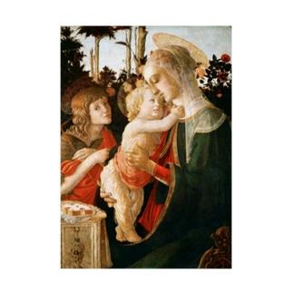 ボッティチェリ 『 聖母子と幼き洗礼者ヨハネ 』 Stickable tarpaulin