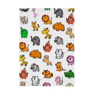 動物モノグラム Stickable poster