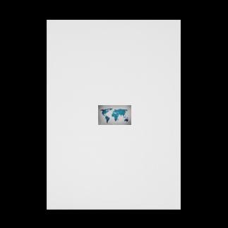 Sakura-yuanの氷と水の世界地図 Stickable tarpaulin