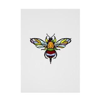 Bee (蜂) Full of vitality (フル オブ バイタリティ) Stickable tarpaulin