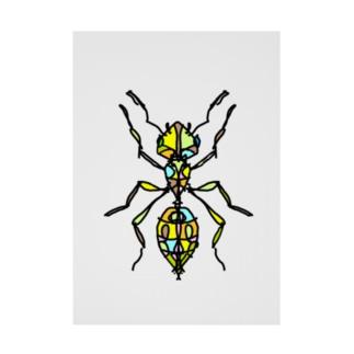 ant☆(あり)カラーバージョン Full of vitality (フル オブ バイタリティ) Stickable tarpaulin