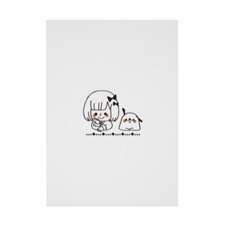 ぱつことぽち Stickable poster