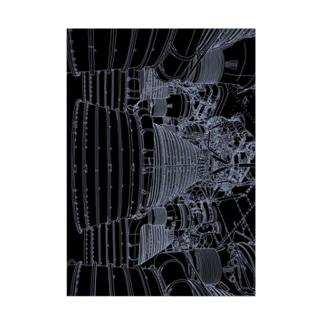 アポロロケットブースター Stickable poster