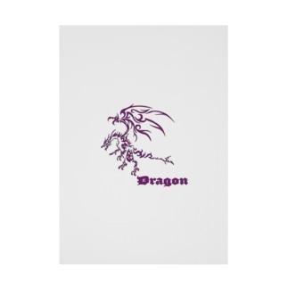 ドラゴンⅦ(紫色) Stickable poster