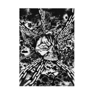 スカル チェーン リバース&リバース Stickable poster