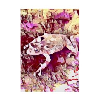 Fantastic Frog -Rose Quartz Version- Stickable tarpaulin