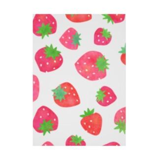 Katieの手描きのイチゴ Stickable tarpaulin