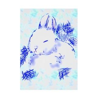 うさぎ~冬バージョン~ Stickable tarpaulin