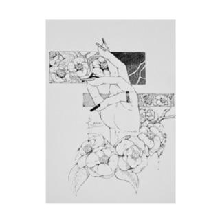 来瀬ヨリの椿 Stickable poster