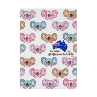 オーストラリア支援2 Stickable poster