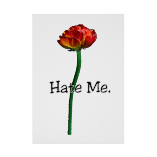 Lil'Tyler's Clothing.の「Hate Me FLOWER」 Stickable tarpaulin
