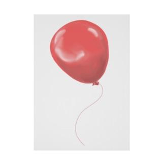 赤い風船 Stickable tarpaulin