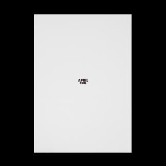 グラフィンの4月1日エイプリルフール用デザイン April fool Stickable tarpaulin