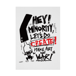 monkeytunerecordsのMAKE ART NOT WAR Stickable tarpaulin