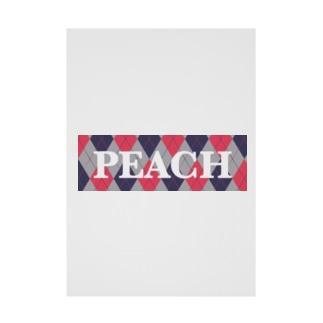 PEACH Stickable poster