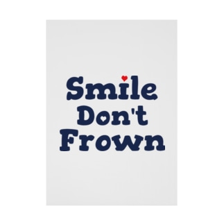 smile don't frown Stickable poster