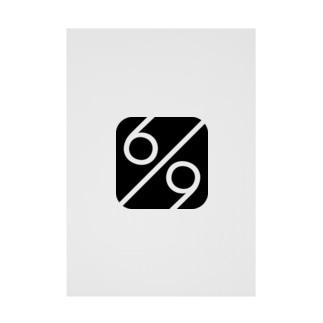 秘密結社 6/9(パーセント) ロゴグッズ Stickable tarpaulin