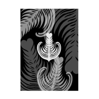 【ラテアート】ブラックリーフ Stickable tarpaulin