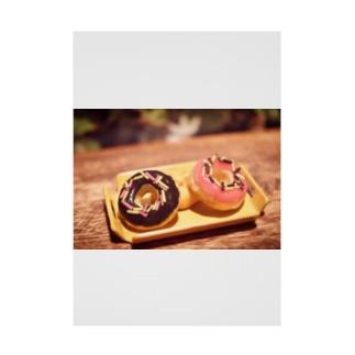 【スイーツ】Prism coffee beanのミニチュアドーナツ Stickable poster
