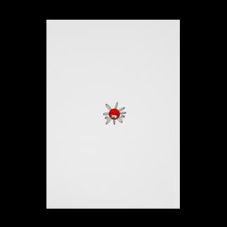 キャラ生み製造機の1. 『たいよう』 Stickable tarpaulin