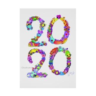 【2020】イラストmoji colorful ver. Stickable tarpaulin