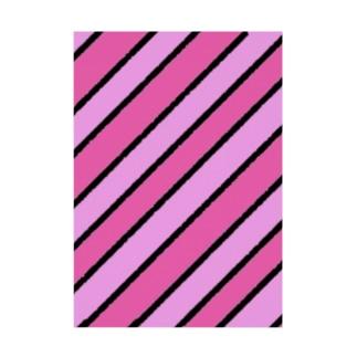 桃っぽいカラーストライプ Stickable poster