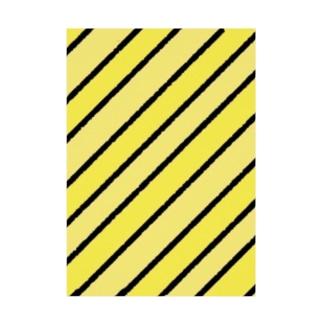 カスタードっぽいカラーストライプ Stickable poster