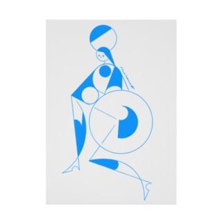 circus_blue Stickable tarpaulin