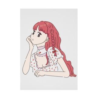 女の子④ Stickable tarpaulin