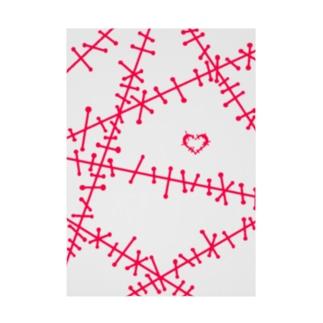 ツギハギ 赤 Stickable poster