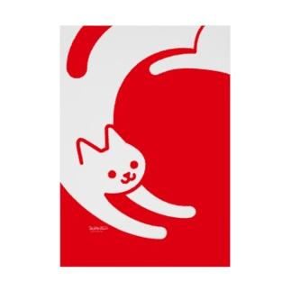 赤猫 Stickable tarpaulin