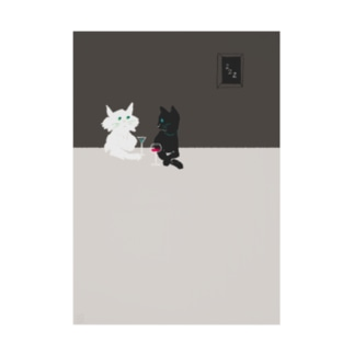 バーの猫たち Stickable poster