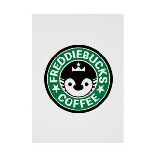 Freddiebucks Coffee Stickable poster