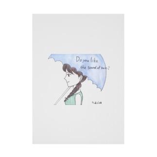 ひよこ工房の雨の音は好き? Stickable poster